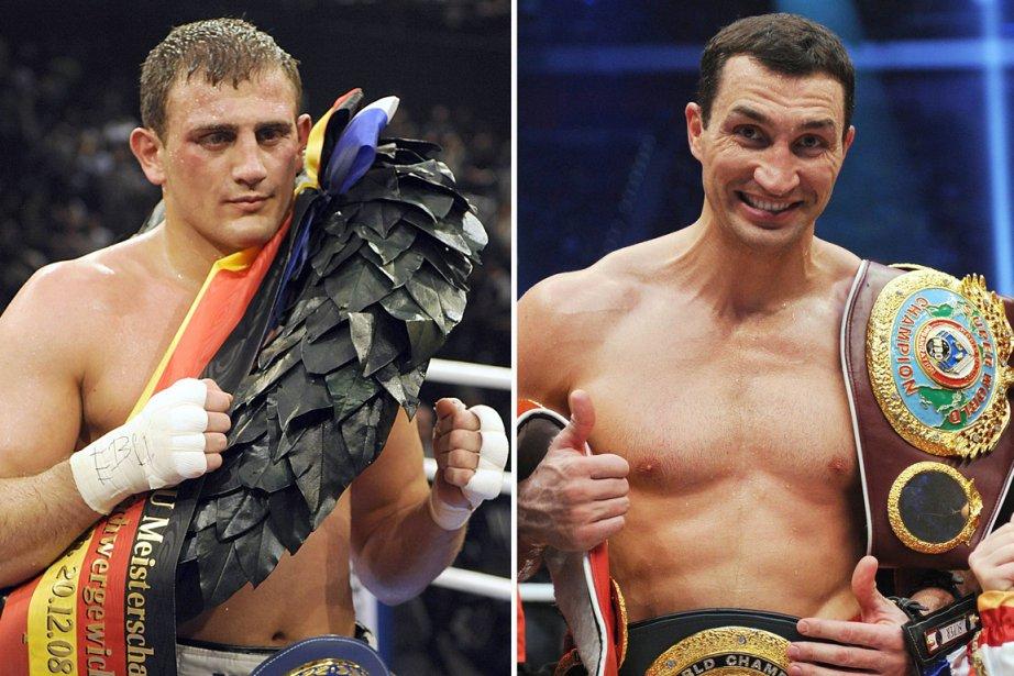 Francesco Pianeta et Wladimir Klitschko... (Photos AFP)