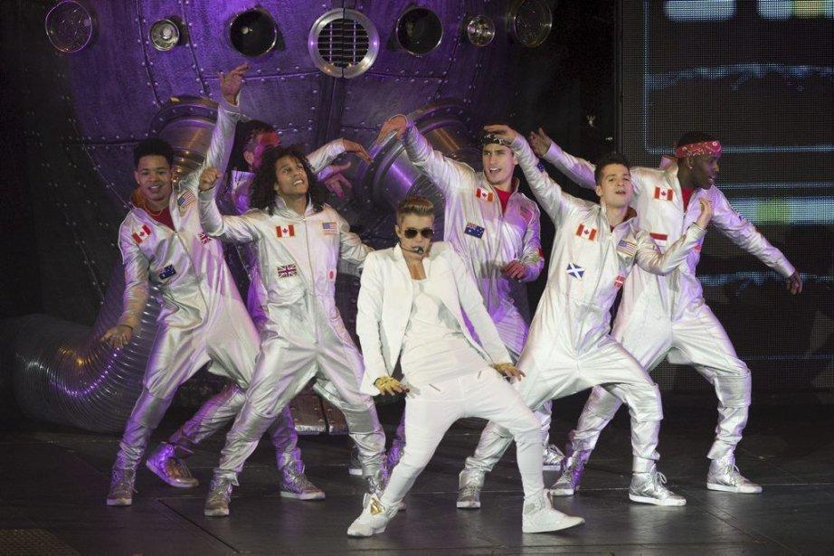Justin Bieber en spectacle au O2 Arena de... (Photo: AFP)