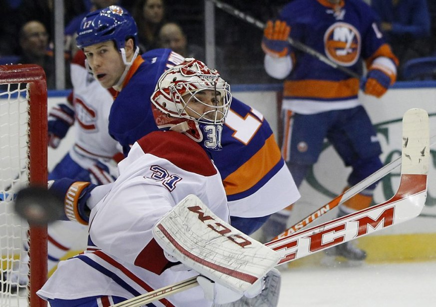 Carey Price (31) fait dévier le tir de Matt Martin avec son bâton. (PHOTO SHANNON STAPLETON, REUTERS)