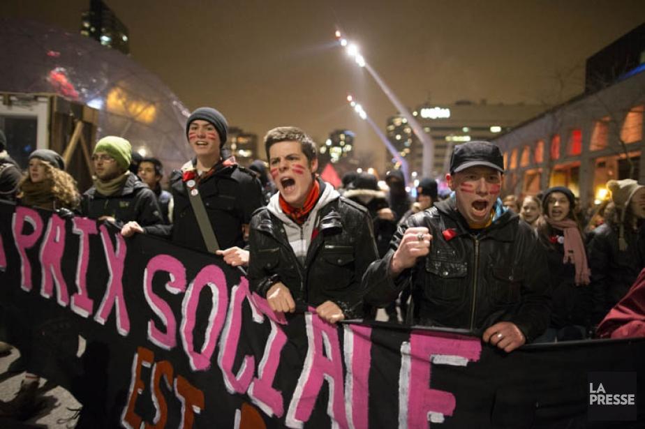Les rues de Montréal ont eu des airs de printemps 2012, mardi soir. Plus de...