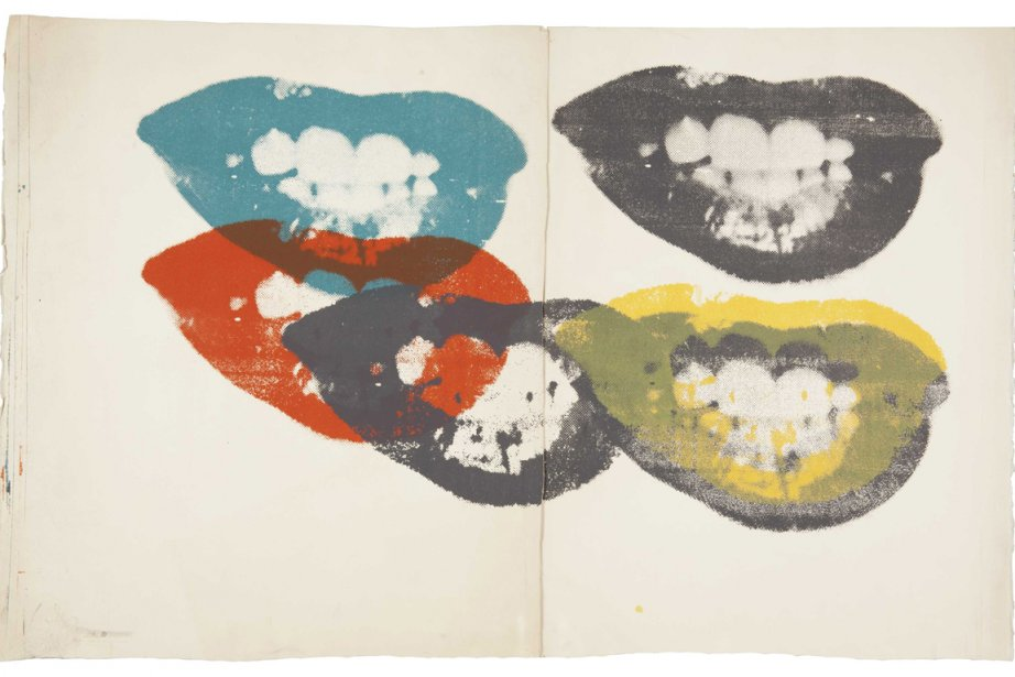 La lithographie en couleurs des lèvres de Marilyn... (Photo fournies par la maison Christie's)