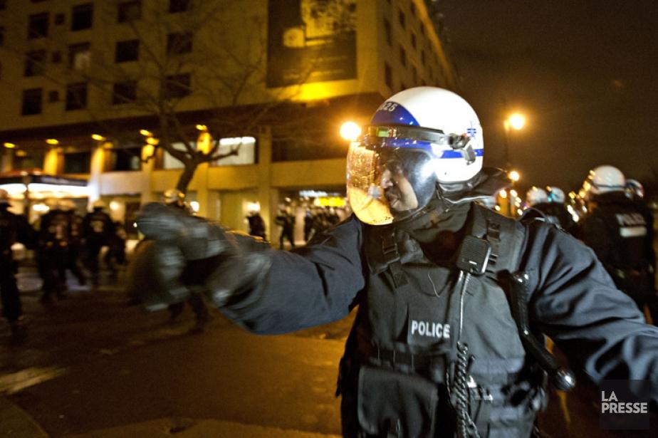 Mardi, lors de la manifestation qui avait pour... (Photo: Olivier Jean, La Presse)