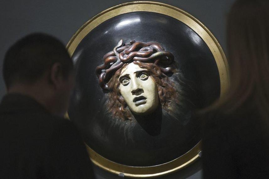 Bouclier avec le visage de méduse d'Arnold Bocklin... (Photo: AFP)