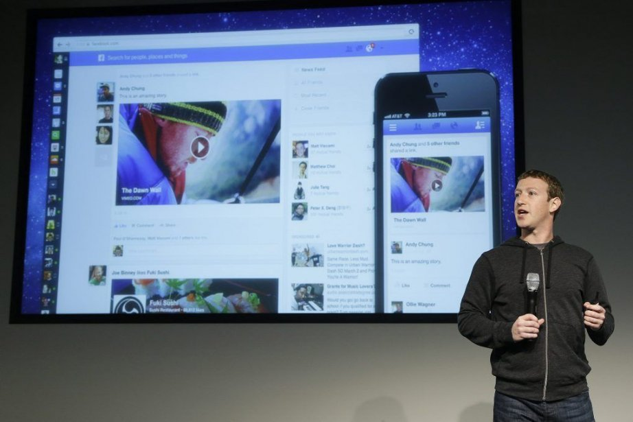 Mark Zuckerberg a dévoilé le nouveau design du... (Photo: AP/Jeff Chiu)