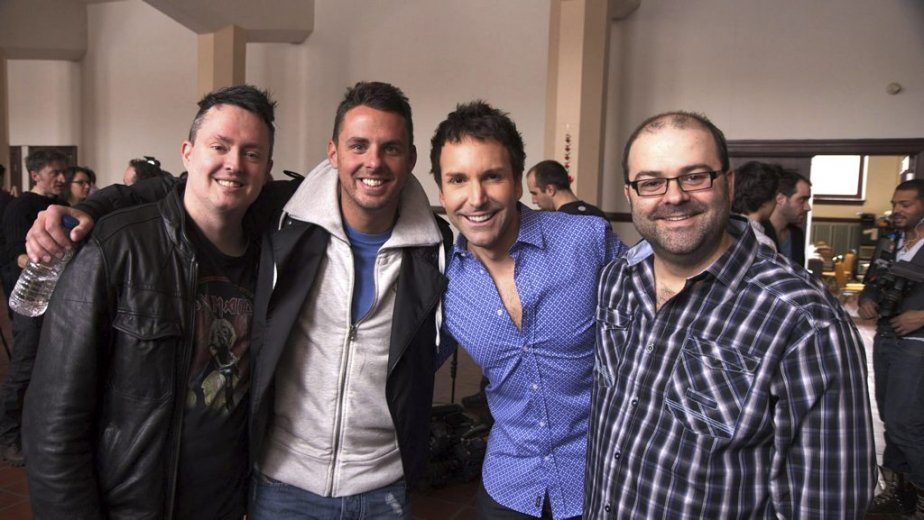 Mike Ward, Philippe Bond, Éric Salvail et Laurent Paquin (Photo: Herby Moreau, La Presse)