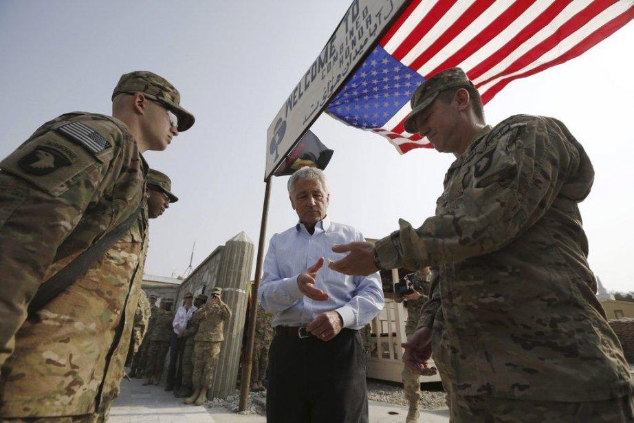 Le secrétaire américain à la Défense Chuck Hagel,de... (PHOTO JASON REED, AFP)