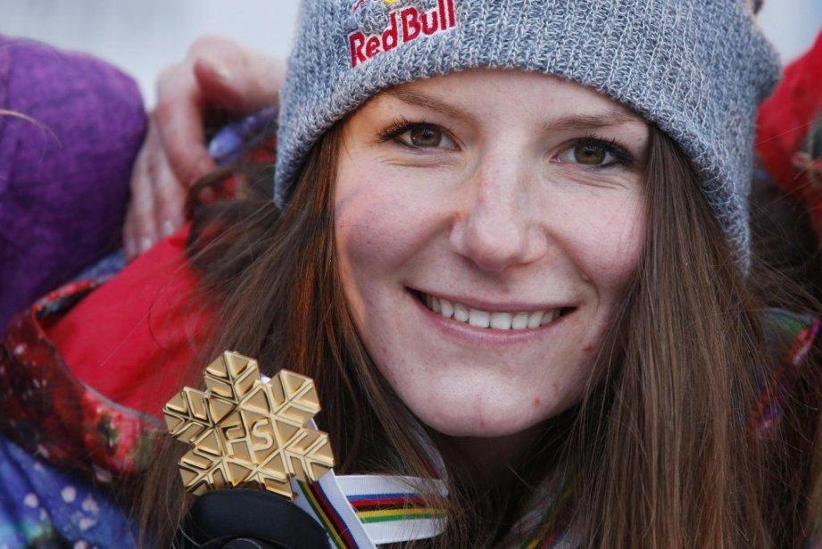 La Montréalaise Kaya Turski a décroché la médaille... (Photo Hakon Mosvold Larsen, REUTERS)
