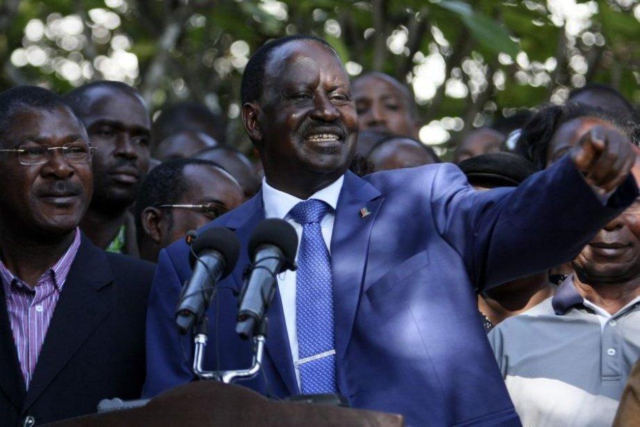 Refusant d'accepter la défaite, le premier ministre Raila... (PHOTO GAZELLE JONATHAN, REUTER)