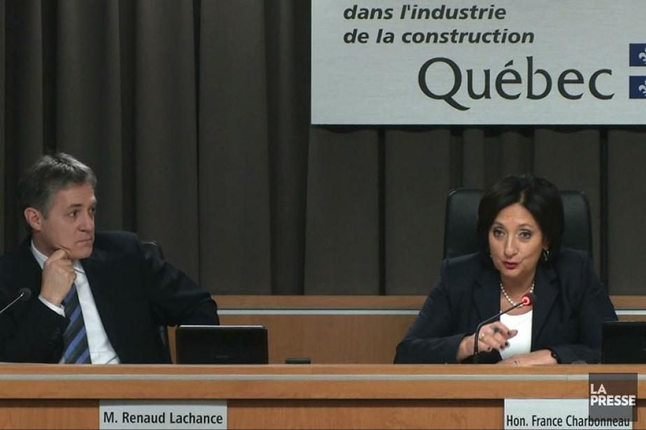 Le commissaire Renaud Lachance et la juge France... (Image La Presse)