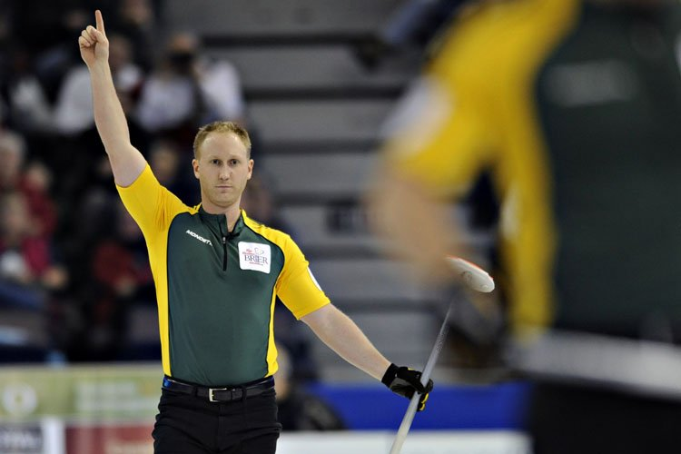 Le Nord-Ontarien Brad Jacobs a remporté le Championnat... (Photo: Reuters)