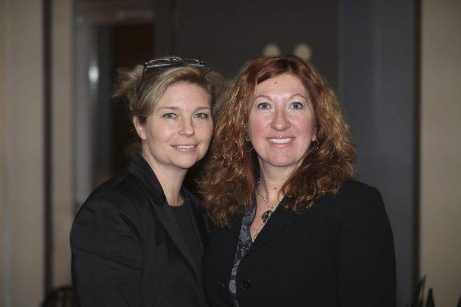 Nancy Florence Savard et Marie-Claude Beauchamp.... (Photo: fournie par Guy Couture)