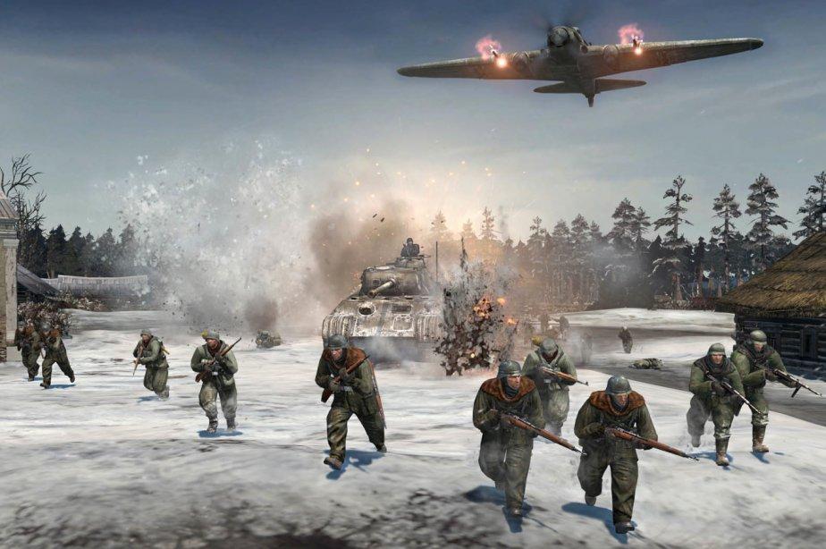 Ce jeu suit le destin d'une infanterie durant la Seconde Guerre mondiale, mais...