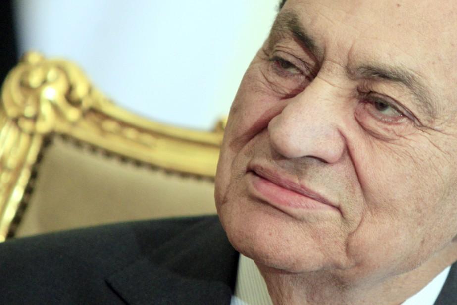 Le président déchu Hosni Moubarak.... (PHOTO AMR NABIL, ARCHIVES AP)