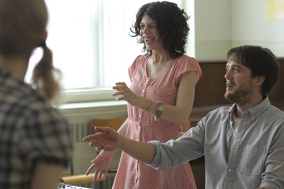 Gabrielle (Gabrielle Marion-Rivard) et Rémi (Vincent-Guillaume Otis) lors... (Photo: Philippe Bossé, fournie par micro_scope)