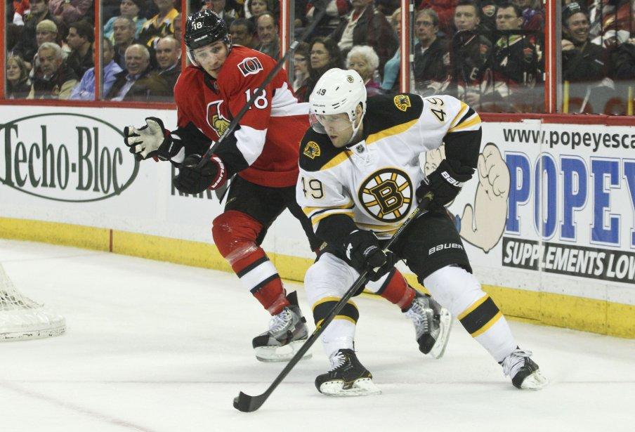 Jim O'Brien et Rich Peverley, 2ème période Sens contre les Bruins | 11 mars 2013