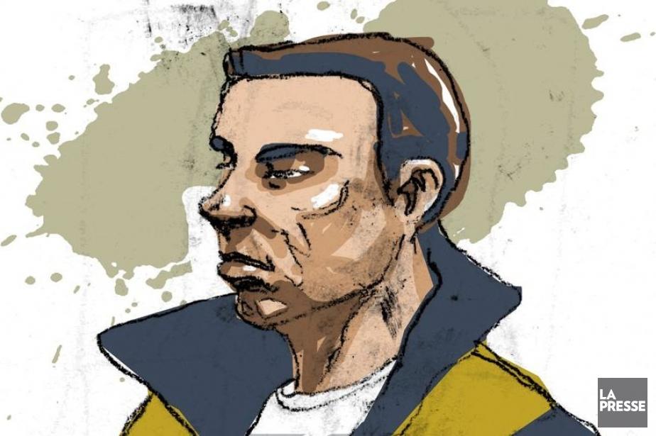 Luka Rocco Magnotta au palais de justice de... (ILLUSTRATION ANDRÉ RIVEST, LA PRESSE)