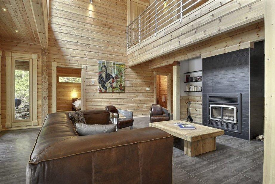 Une maison de Honka Canada. Au fond, à... (PHOTO HONKA CANADA)