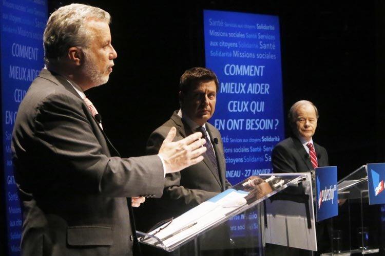 Philippe Couillard lors du quatrième débat entre lescandidats... (Photo: Le Droit)