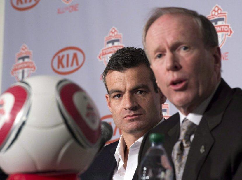Le président du Toronto FC Kevin Payne (à... (Photo Frank Gunn, PC)