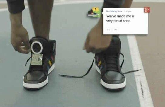 Les chaussures Google qui parlent......