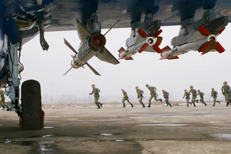 Les vols effectués au Nord par des avions... (PHOTO AFP/KCNA)