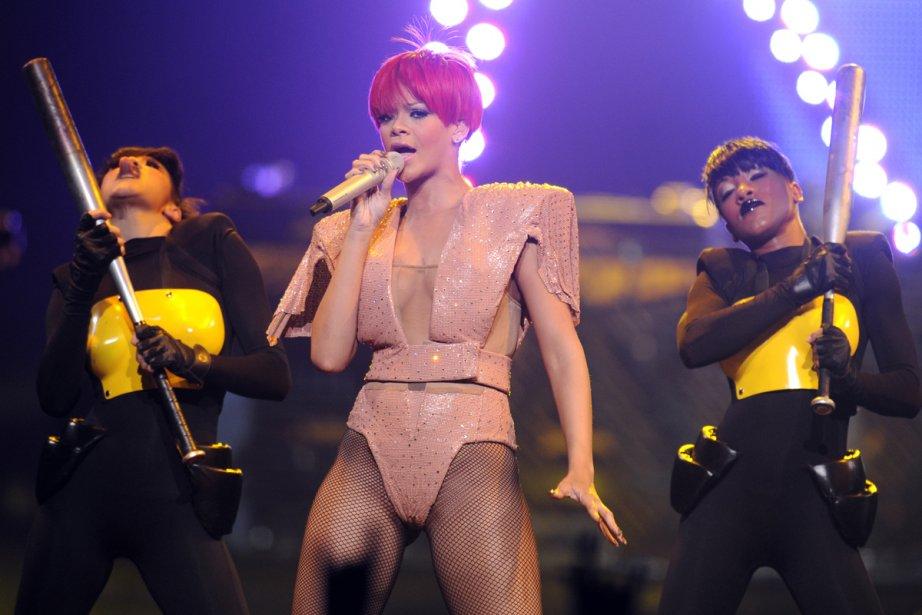 Rihanna... (Photo: Bernard Brault, La Presse)