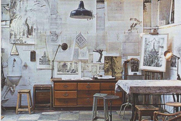 Un atelier «bohémien».... (Photo tirée du blogue Bohemian Homes)