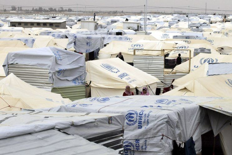 Le camp de réfugiés de Zaatari, en Jordanie,... (Photo Khalil Mazraawi, archives Agence France-Presse)