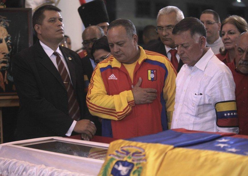 Exposée à l'Académie militaire de Caracas, où des... (Photo fournie à Reuters)