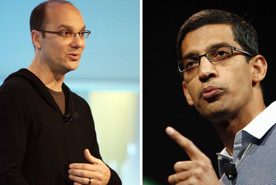 Andy Rubin et Sundar Pichai...