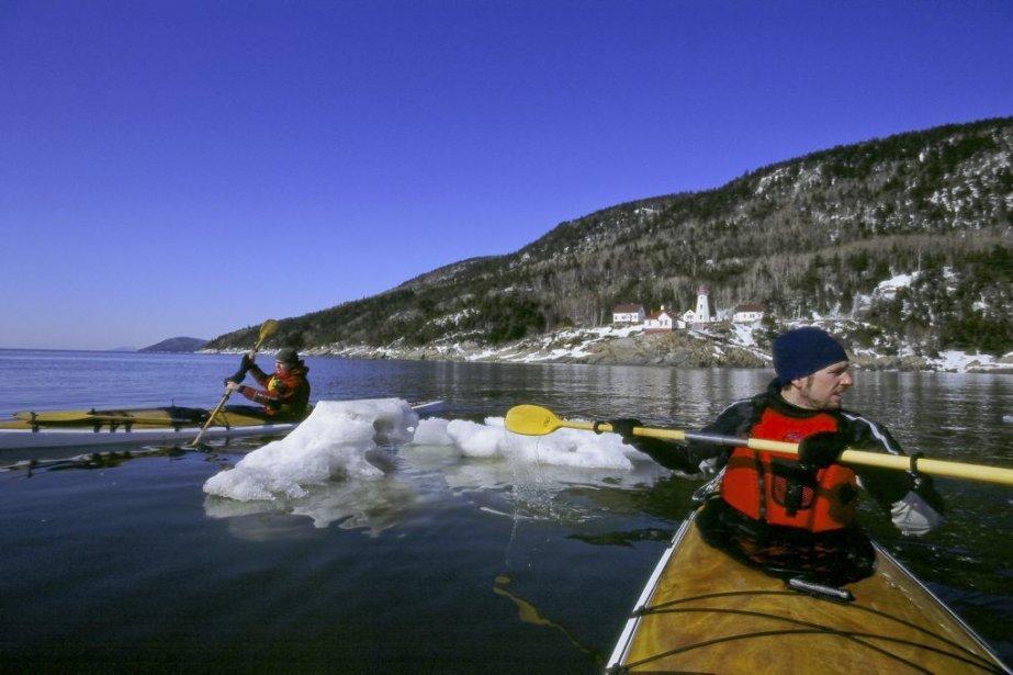 Kayak hivernal à La Malbaie (Charlevoix).... (Photo Katabatik)