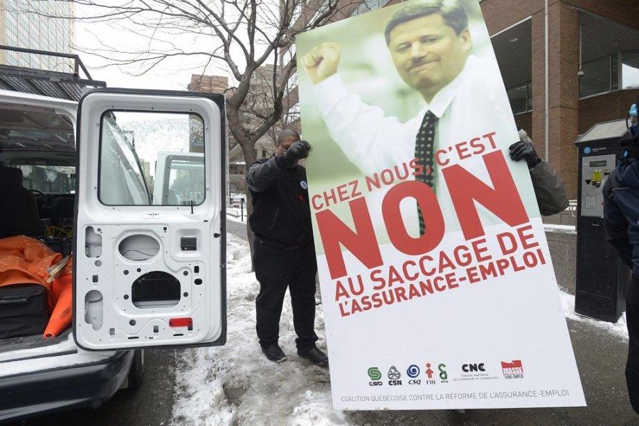 La Coalition québécoise contre la réforme de l'assurance-emploi... (PHOTO GRAHAM HUGHES, PC)
