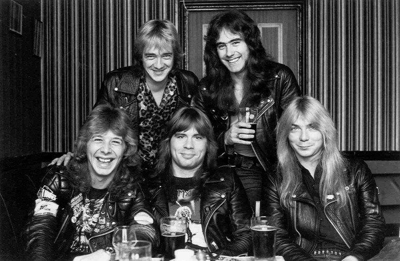 Les membres du groupe Iron Maiden avant 1982.... (Photo: site officiel du groupe)