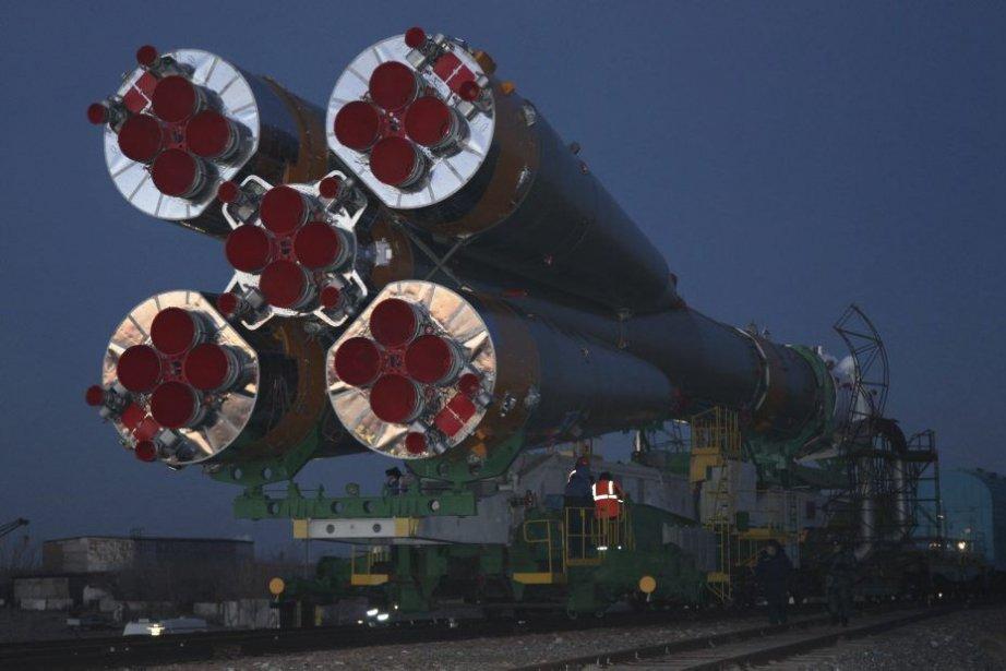 La fusée Soyouz... (AFP)