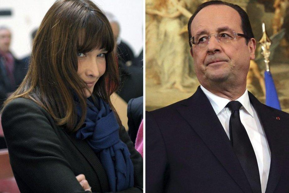 Carla Bruni et François Hollande... (Photo: Reuters)
