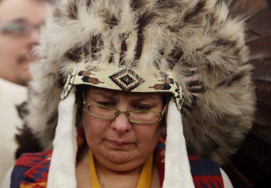 la chef de la réserve d'Attawapiskat, Theresa Spence,... (Photo Fred Chartrand, PC)