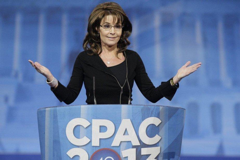 L'ancienne gouverneure de l'Alaska, Sarah Palin, a prononcé... (JONATHAN ERNST)