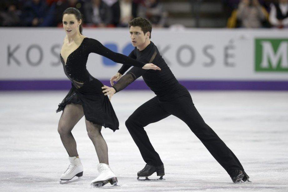 Tessa Virtue et Scott Moir... (Photo Brendan Smialowski, Agence France-Presse)