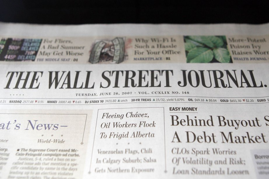 Le Wall Street Journal a... (Photo d'archives Keith Bedford, Reuters)