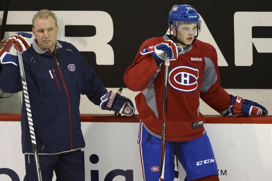 L'entraîneur Michel Therrien (à gauche) affirme qu'il n'est... (Photo Bernard Brault, La Presse)