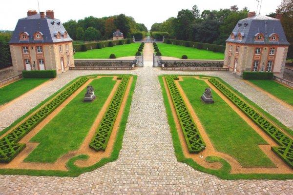 Les jardins de Breteuil surplombent la Vallée de la Chevreuse. (Photo RelaxNews)