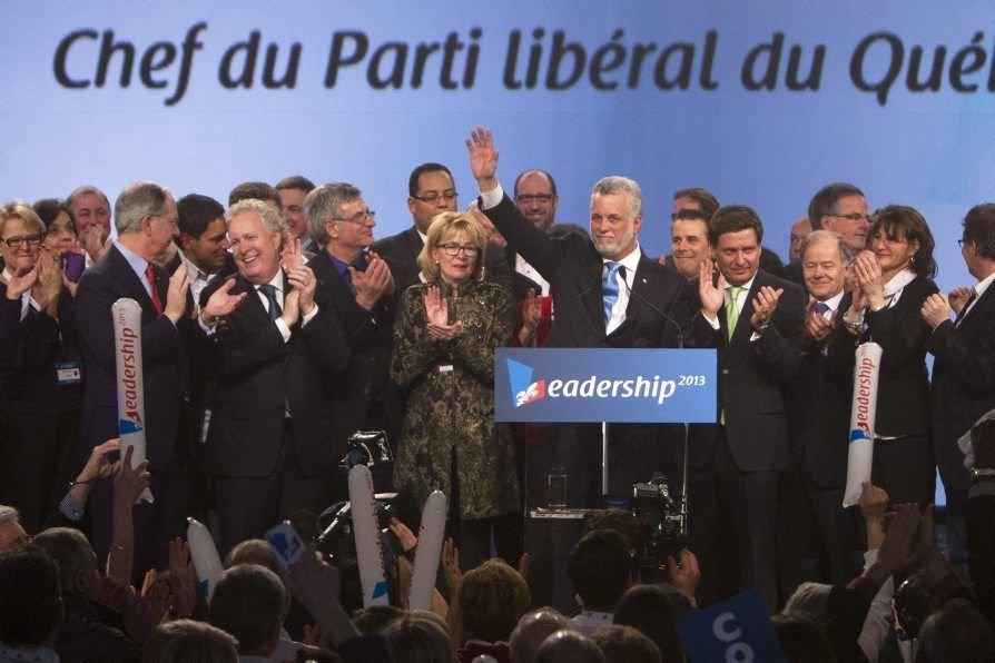 Le nouveau chef du Parti libéral du Québec,... (Photo: Robert Skinner, La Presse)