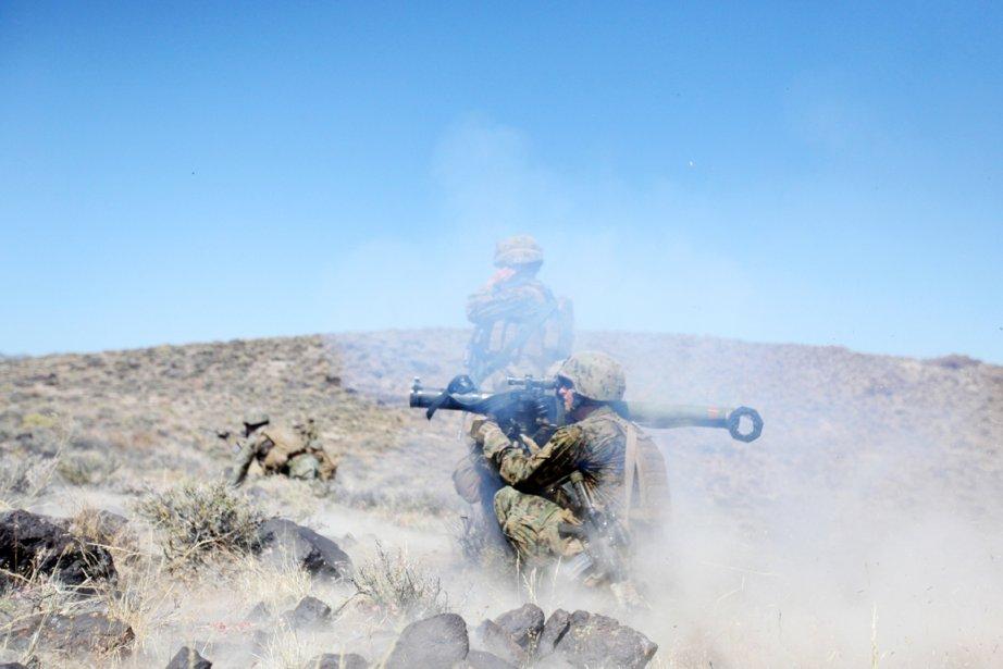 Des militaires américains s'entraînent sur la base d'Hawthorne,... (PHOTO ARCHIVES AFP/US MARINES CORPS)