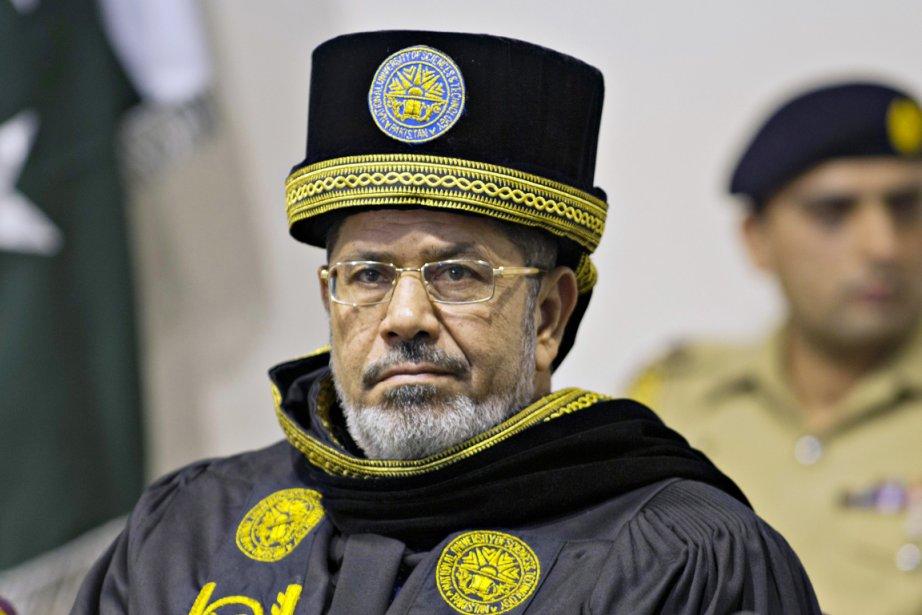 Le président Mohamed Morsi, lors d'une cérémonie à... (PHOTO MIAN KHURSHEED, REUTERS)