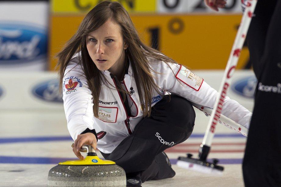 La capitaine de l'équipe canadienne, Rachel Homan.... (Photo Andrew Vaughan, PC)