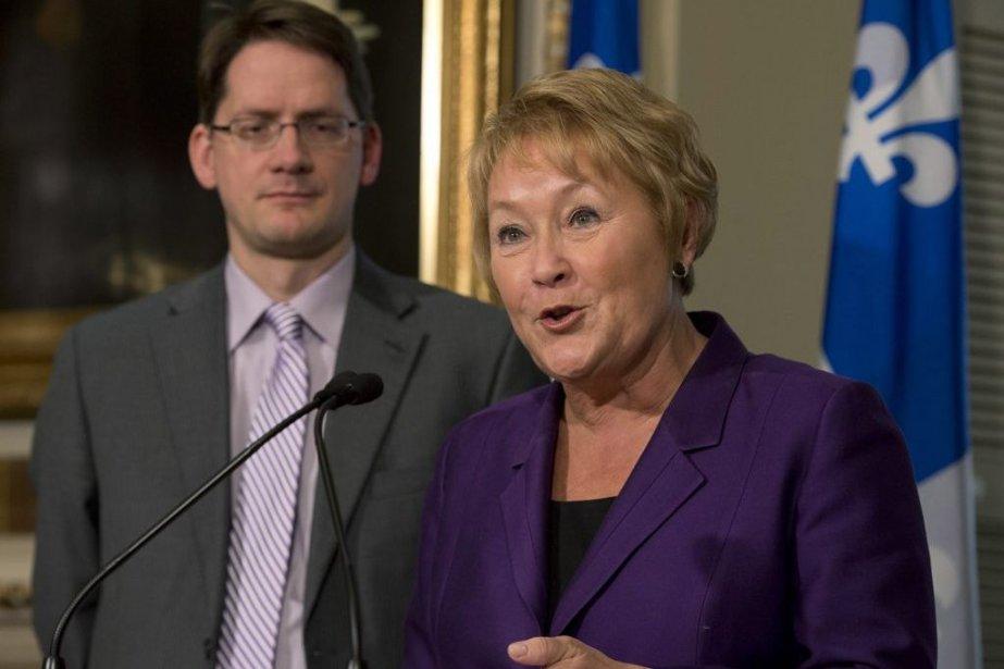 Pauline Marois et Sylvain Gaudreault.... (Photo La Presse Canadienne)