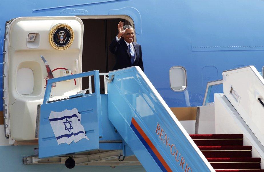 Arrivée du président Barack Obama à l'aéroport Ben Gurion à... | 2013-03-20 00:00:00.000