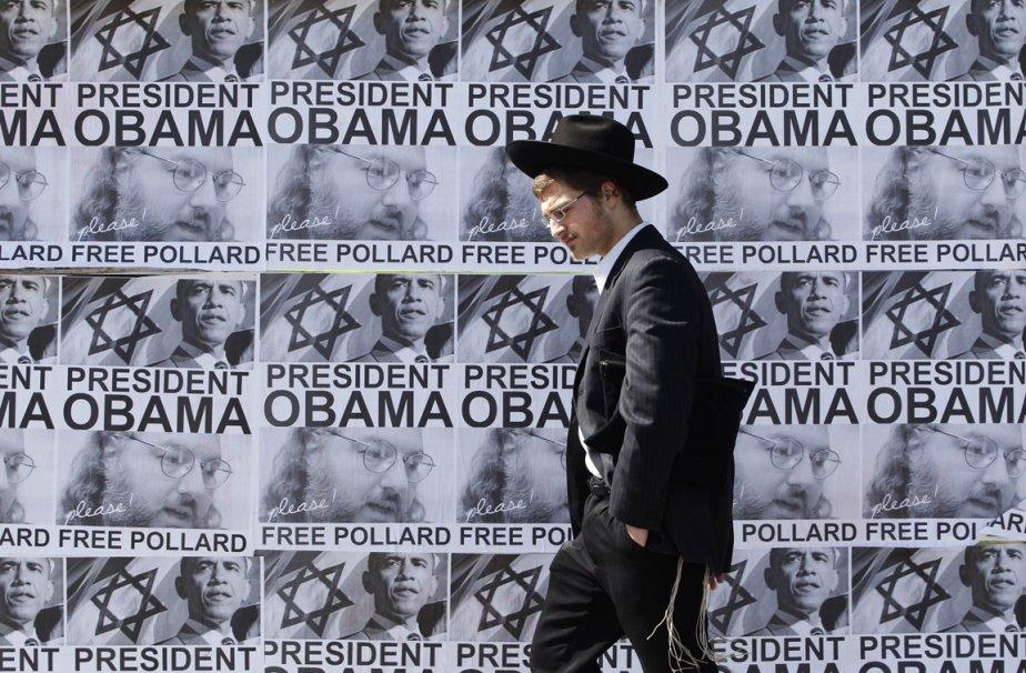 Des affiches réclamant la libération de l'espion israélien Jonathan Pollard emprisonné aux États-Unis placardent les rues de Jérusalem | 20 mars 2013