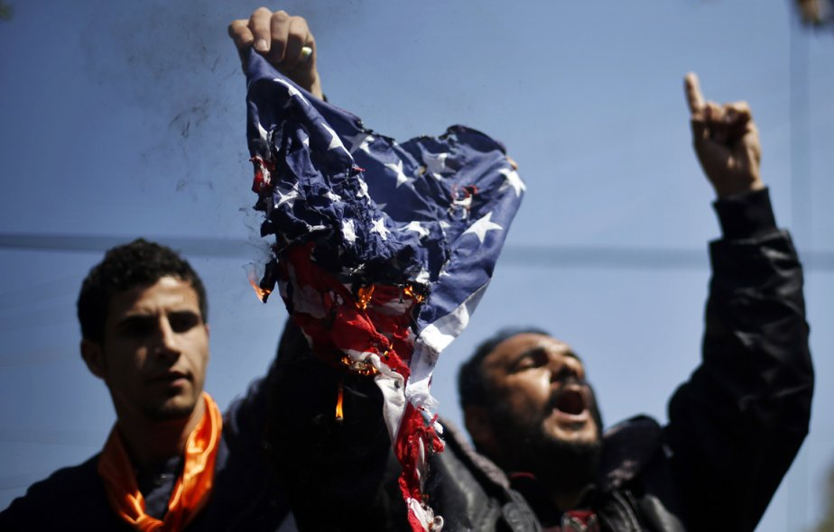 Manifestations antiaméricaines à Gaza. | 20 mars 2013