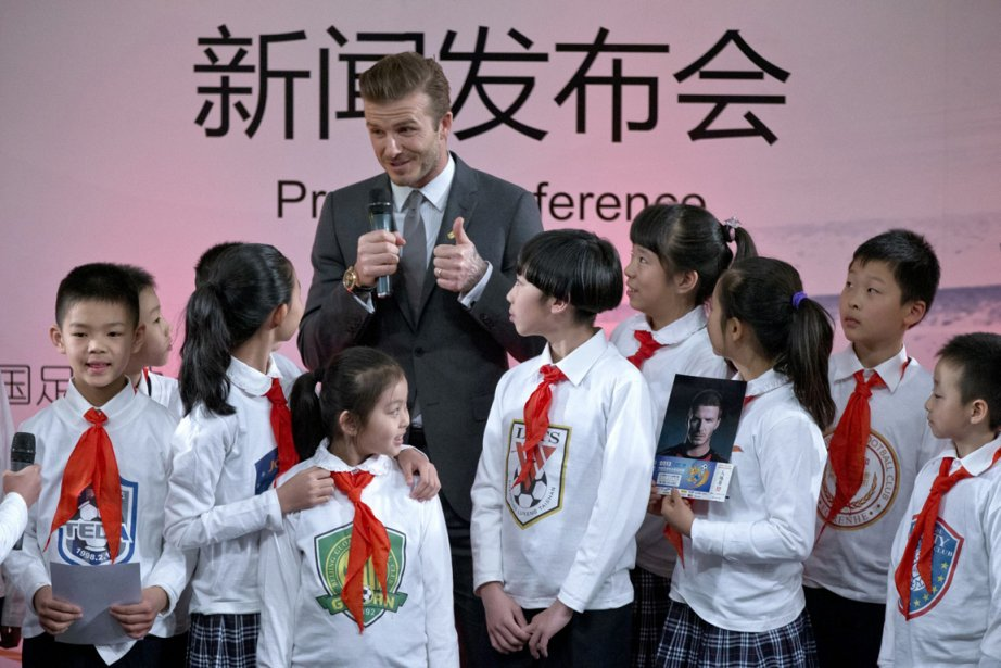 David Beckham a participé à un événement promotionnel... (Photo Alexander F. Yuan, AP)